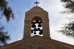 Griekse Orthodoxe Basiliek van Heilige George in stad Madaba, Jordanië Stock Afbeelding
