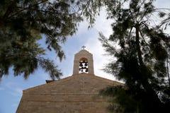 Griekse Orthodoxe Basiliek van Heilige George in stad Madaba, Jordanië Royalty-vrije Stock Afbeelding