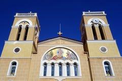 Griekse Orthodoxe Kerk, Itea, Griekenland Stock Afbeeldingen