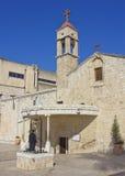 Griekse Orthodoxe Kerk van de Aankondiging, Nazareth Stock Afbeelding