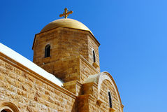 Griekse orthodoxe St John Baptist Church, Jordan River Royalty-vrije Stock Afbeeldingen