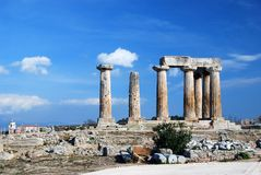 Griekse oude tempel stock fotografie