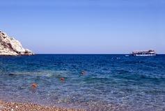 Griekse overzees royalty-vrije stock afbeeldingen