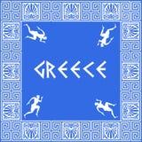 Griekse patroonachtergrond Royalty-vrije Stock Afbeelding