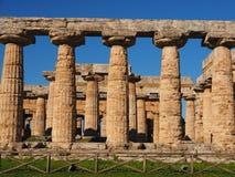 Griekse pijlers Stock Foto