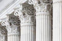 Griekse pijlers in Athene, Griekenland Royalty-vrije Stock Fotografie