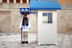 Griekse Presidentiële Wacht (Athene, Griekenland) Stock Foto