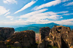 Griekse rotsachtige bergen Stock Fotografie