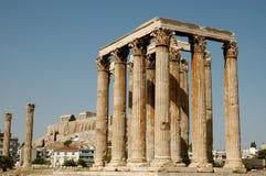 Griekse ruïnes in Athene Stock Foto's