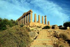 Griekse ruïnes. Vallei van de tempels, Sicilië - Italië Stock Fotografie