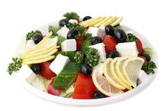 Griekse salade met fetaki Royalty-vrije Stock Foto's