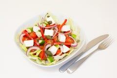 Griekse salade met kappertjes Royalty-vrije Stock Fotografie