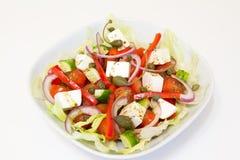 Griekse salade met kappertjes Stock Afbeeldingen