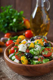 Griekse salade met verse groenten Royalty-vrije Stock Fotografie