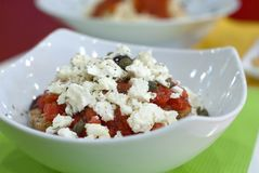 Griekse salat royalty-vrije stock afbeelding