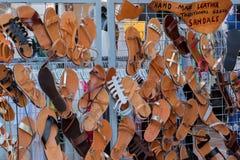 Griekse sandals Stock Afbeelding