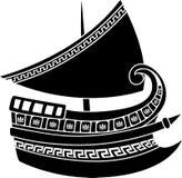 Griekse schipstencil Stock Afbeelding