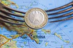 Griekse Schuld royalty-vrije stock afbeelding