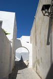 Griekse straat royalty-vrije stock afbeelding