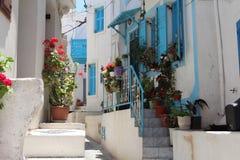 Griekse straat stock afbeeldingen