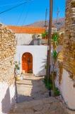 Griekse straat royalty-vrije stock foto