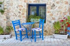 Griekse taverna Stock Afbeeldingen