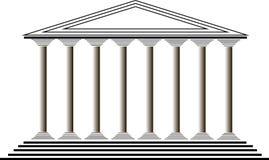 Griekse tempel stock illustratie