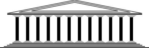 Griekse tempel vector illustratie