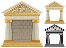 Griekse Tempel royalty-vrije illustratie