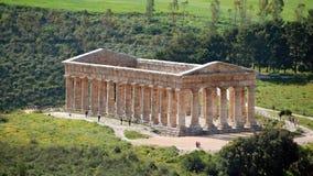 Griekse tempel in Segesta Stock Afbeeldingen