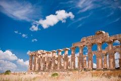 Griekse tempel in Selinunte Stock Afbeeldingen