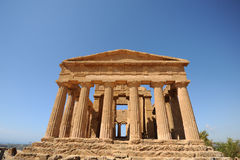 Griekse tempel van Concordia, Agrigento, Sicilië Royalty-vrije Stock Foto's