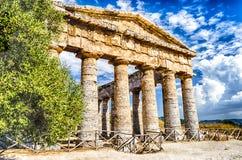 Griekse tempel van Segesta Stock Afbeeldingen