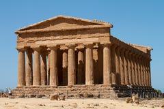 Griekse tempel van Verdrag, Vallei van Tempels, Agrigento Royalty-vrije Stock Foto's