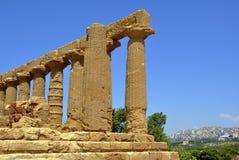 Griekse tempelruïnes Stock Foto's