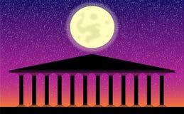 Griekse tempelruïnes royalty-vrije illustratie