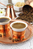 Griekse of Turkse koffie Stock Afbeelding