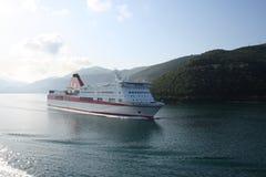 Griekse veerboot stock afbeeldingen