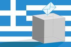 Griekse verkiezingen Stock Afbeeldingen