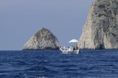 Griekse Visser op zee Stock Foto's