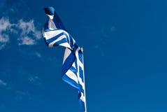 Griekse vlag. Stock Fotografie