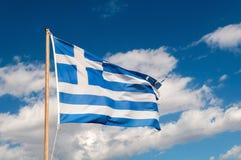Griekse Vlag Stock Foto