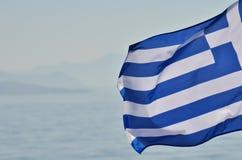 Griekse Vlag Stock Fotografie