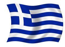 Griekse vlag Royalty-vrije Stock Afbeelding