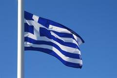 Griekse vlag Royalty-vrije Stock Foto's