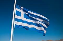 Griekse vlag in de hemel Stock Afbeeldingen
