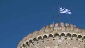 Griekse vlag - naadloze lijn stock footage