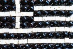 Griekse vlag van gemaakt van voedsel Royalty-vrije Stock Foto's