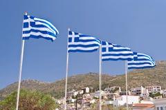 Griekse vlaggen Royalty-vrije Stock Afbeelding