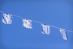 Griekse vlaggen Stock Fotografie